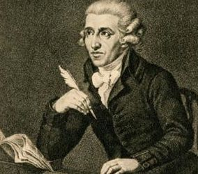 """Haydn listening to the radio, thinking """"did he just steal the tune of my last symphony?!?!?"""""""