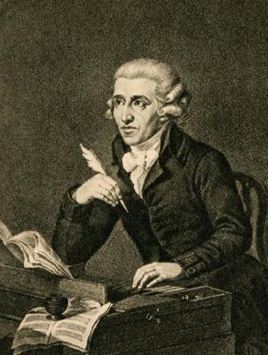 "Haydn listening to the radio, thinking ""did he just steal the tune of my last symphony?!?!?"""