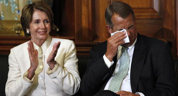 Speaker John Boehner was reduced to tears on Tuesday at the thought of having to hear the exposition of Mozart's Jupiter twice.