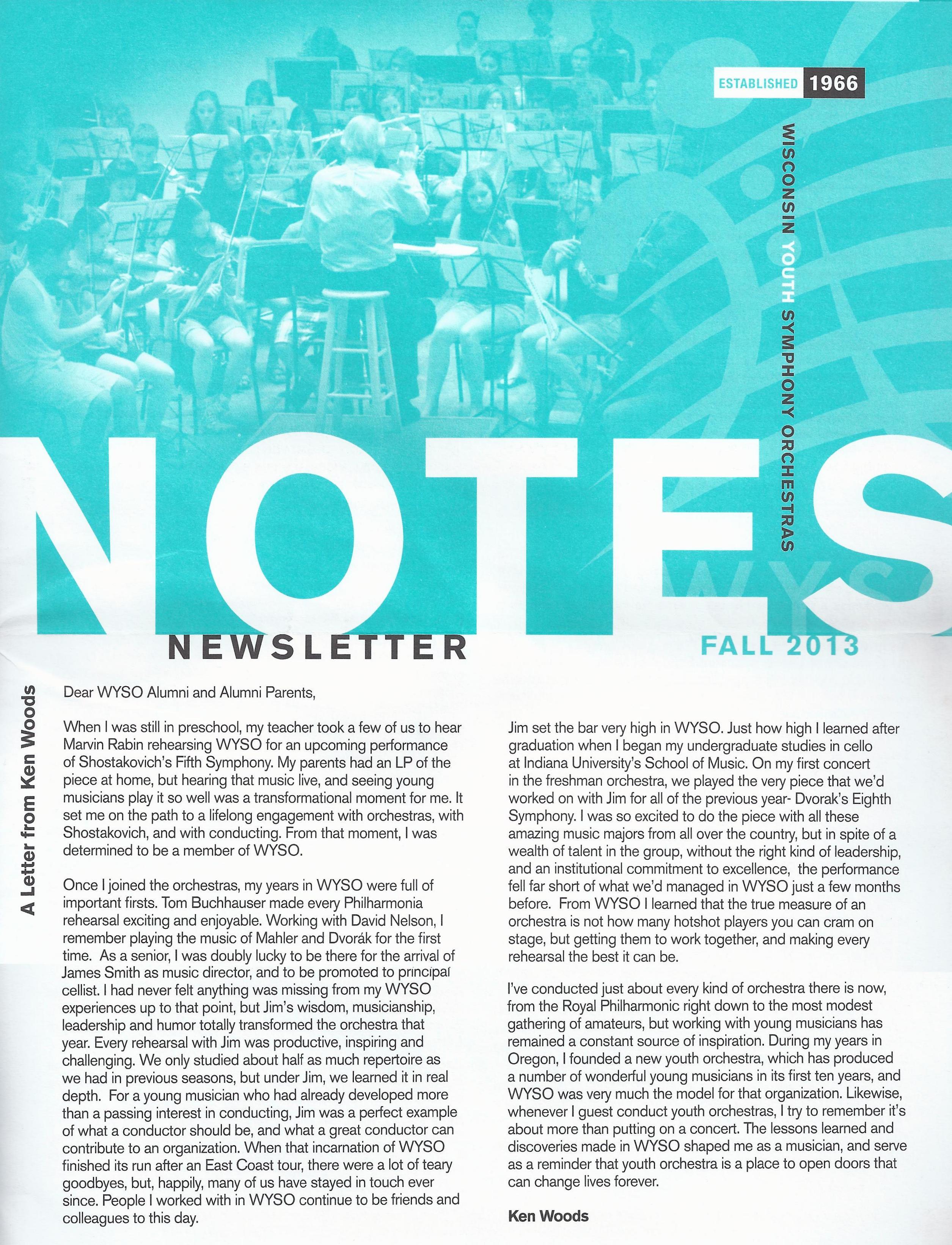 WYSO Newsletter