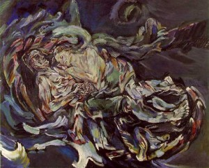 Alma Mahler with her future lover, painter Oskar Kokoschka