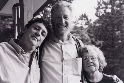 Howard Karp in Colorado with his two closest musical collaborators, wife, Frances and son, Parry. (photo by Katrin Talbot)