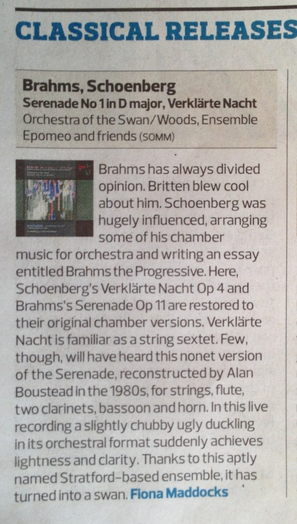 Brahms Serenade The Observer