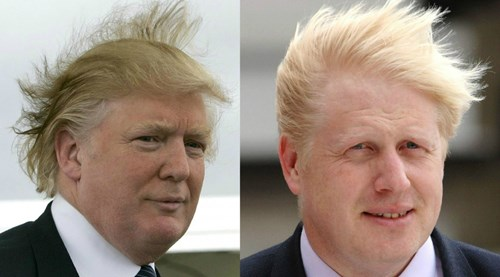 As conductor of the Trump Symphony, Donald Trump, seen here with countertenor Boris Johnson, has carved out a reputation as a leading interpreter of Orff and Pfitzner