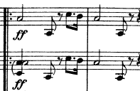 Main theme of 1st mvt of M6